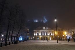 Pogled na Ljubljanski grad s Kongresnega trga
