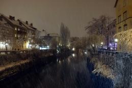 Sneženje ob Ljubljanici