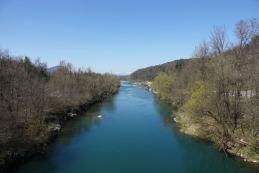 Pogled s črnuškega mostu