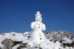 Snežak na vrhu