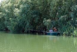 Ribiča v Delti Donave