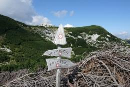 Na sedlu med Tolstim vrhom in Desko